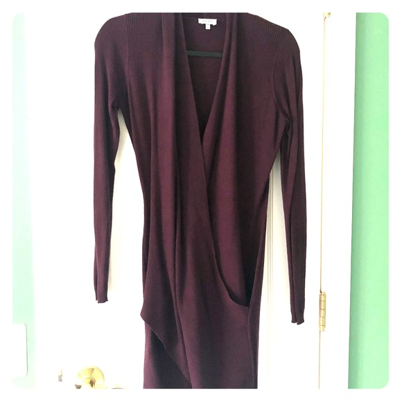 Tobi Dresses & Skirts - Purple sweater wrap dress
